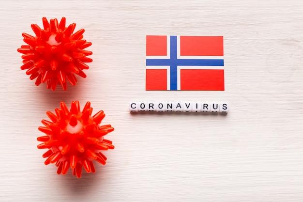 2019-ncov中東呼吸器症候群コロナウイルスまたはコロナウイルスcovid-19のウイルス株モデルを抽象化し、白い背景にノルウェーのテキストを記述します。