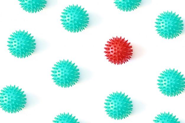 Абстрактная модель штамма вируса респираторного синдрома остановить коронавирус и новый коронавирус covid-19