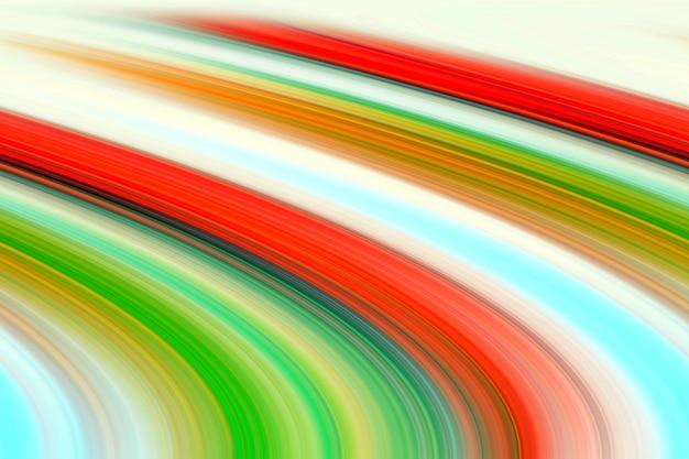 추상 생생한 빨강, 녹색, 노란색 기울어 진 선 그림.