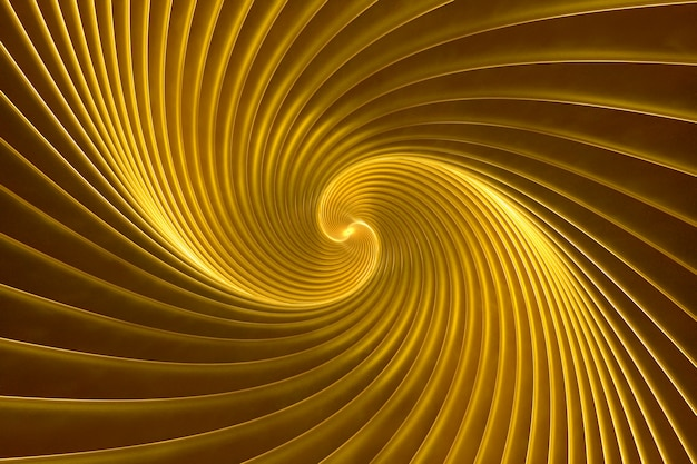 Abstract volumetric gold background 3d illustration