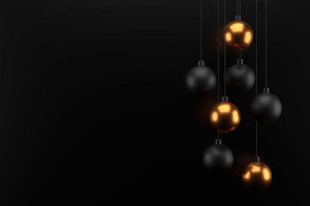 金色のボールの抽象的な壁。 3dレンダリング。