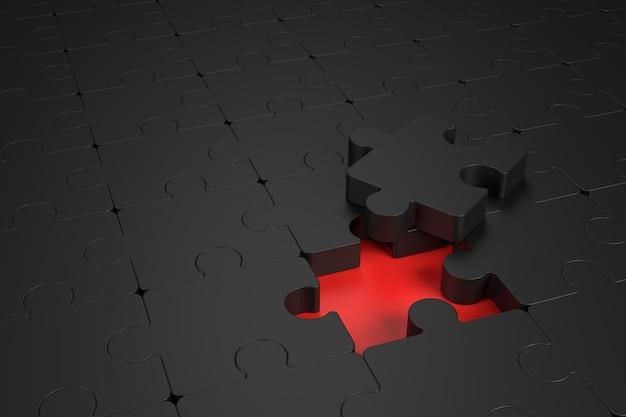Абстрактная стена головоломки. 3d-рендеринг.