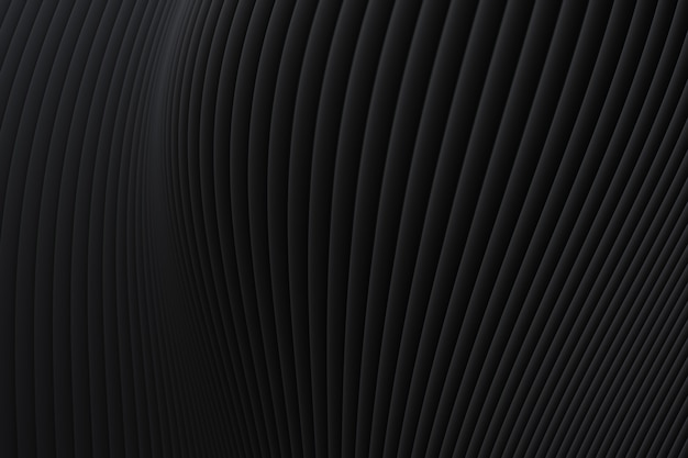 Abstract wall wave architecture black background , black background for presentation, portfolio, website