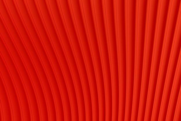 초록 벽 웨이브 아키텍처 빨간색 배경