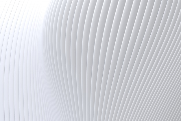 Abstract wall wave architecture white background , white background for presentation, portfolio, website