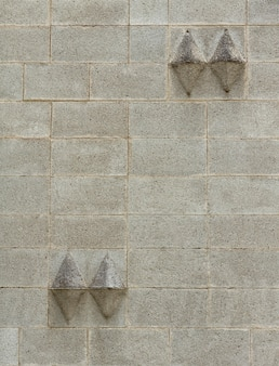 Abstract wall with 3d shapes