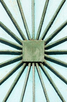 Abstract wall with metal rods