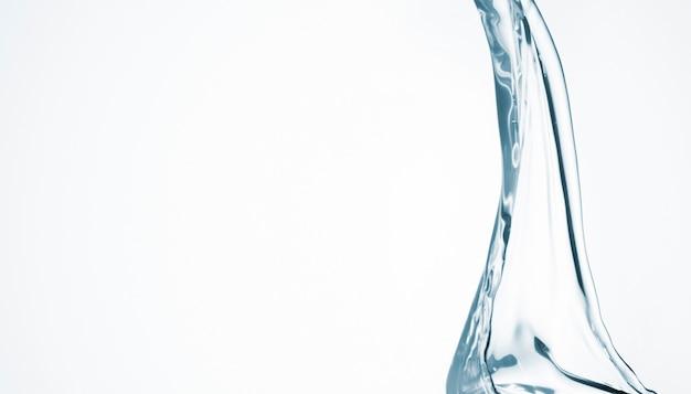 Абстрактная форма воды на белом фоне с копией пространства