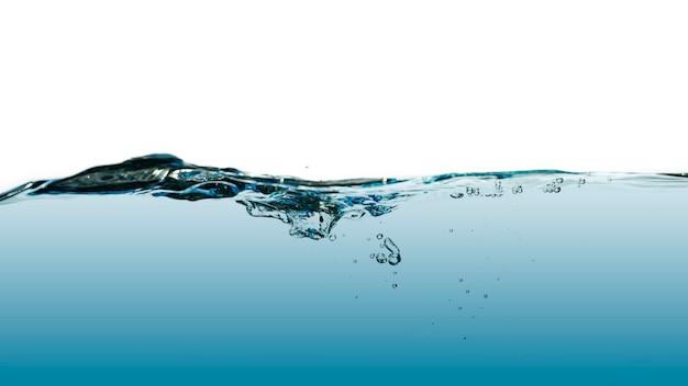 白で隔離の抽象的な水の波のスプラッシュ。
