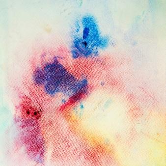 白い背景に水彩画アートの手塗りの抽象的な
