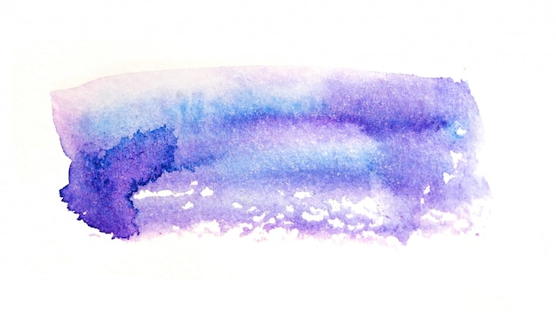 Abstract watercolor background in blue