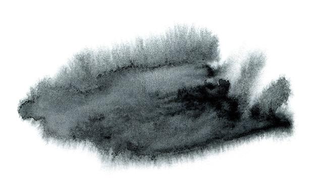 抽象的な水彩背景手描きの黒い水彩スポット