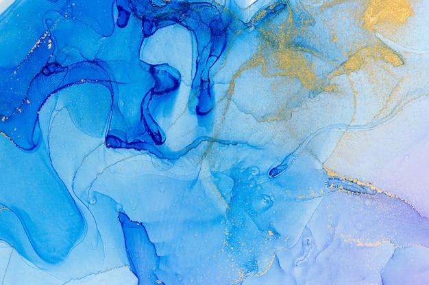 Абстрактная акварель синий градиент фона