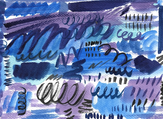 Abstract watercolor brush background. hand painted illustration.