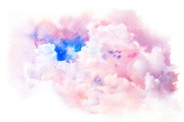 Abstract watercolor brush stroke