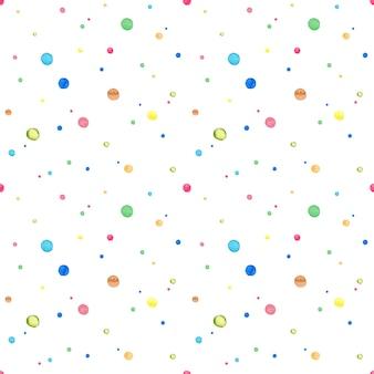 抽象的な水彩ドットのシームレスなパターン。