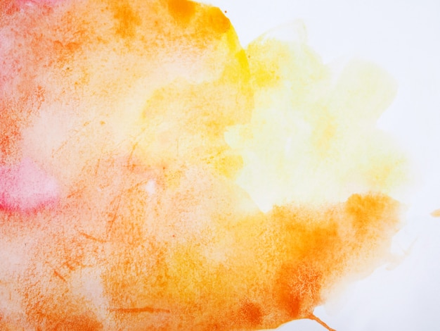 Abstract watercolor drawing on white paper background