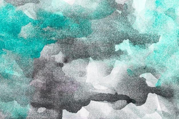 Абстрактная акварель зеленый и черный фон