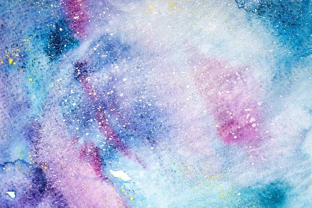 抽象的な水彩画手描きイラスト。カラフルなしみテクスチャ背景