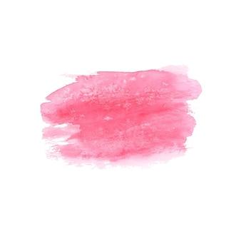 抽象的な水彩画の手描きのスポット。水彩デザイン要素。水彩ピンクの背景。