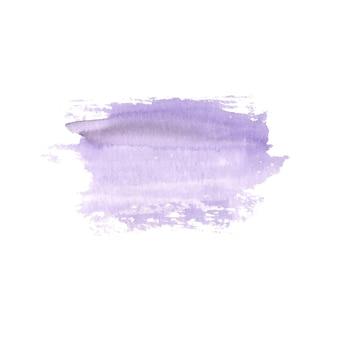 Абстрактная акварель расписанные вручную пятно. элемент дизайна акварель. акварель фиолетовый фон.