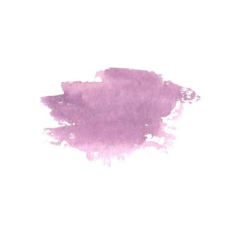 抽象的な水彩画の手描きのスポット。水彩デザイン要素。水彩紫の背景。