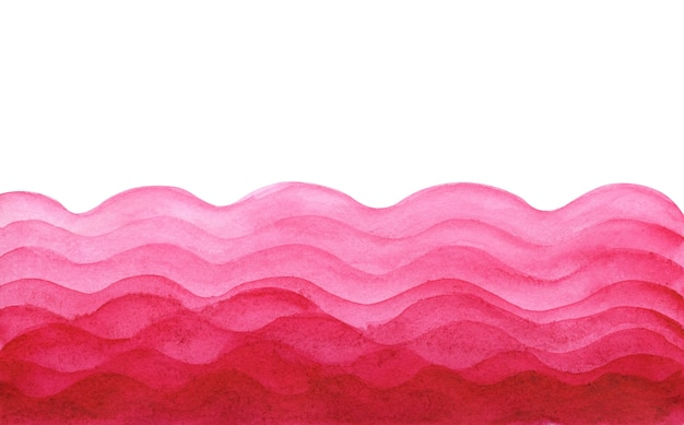 Абстрактная акварель светло и темно-розовая волнистая слоистая бумага вырезать фон