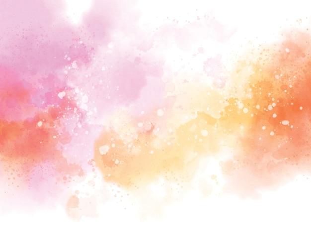白い背景のイラストに抽象的な水彩画