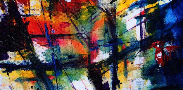 Abstract watercolor painting on paper with texture.