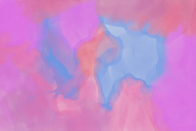 Абстрактная акварель пастель фон ручная роспись. акварель красочные пятна на бумаге.