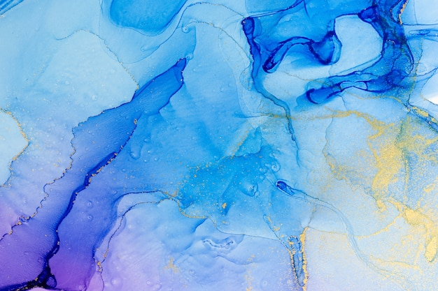 Abstract watercolor pink and violet gradient background.