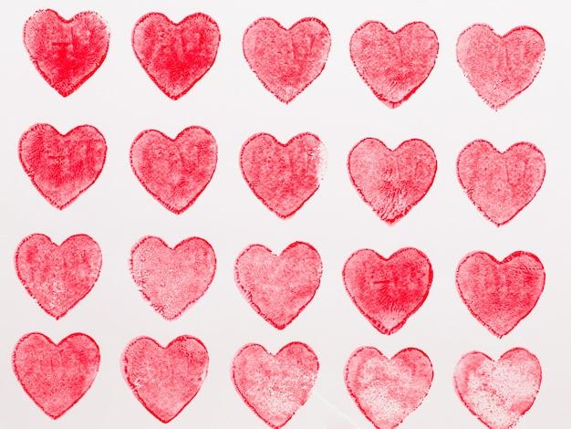 Абстрактная акварель красное, розовое сердце. концепция любви, поздравительная открытка дня святого валентина.