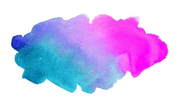 白で隔離の抽象的な水彩画の形