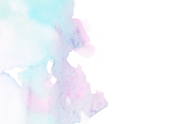 Abstract watercolor stain on white paper