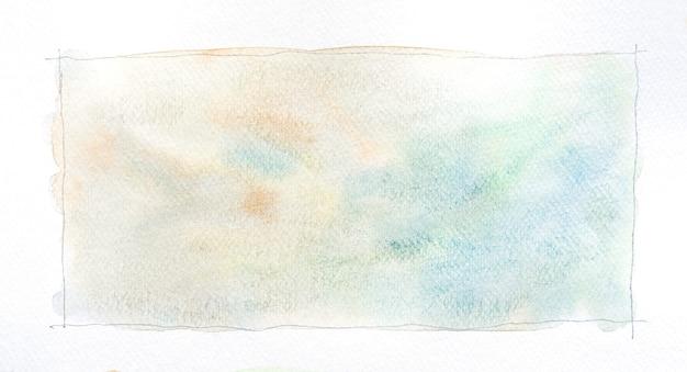抽象的な水彩画の汚れの背景。白に手描きの水彩画のストローク。はがき、名刺、ポスター、ウェブデザイン、パッケージなどに最適です。