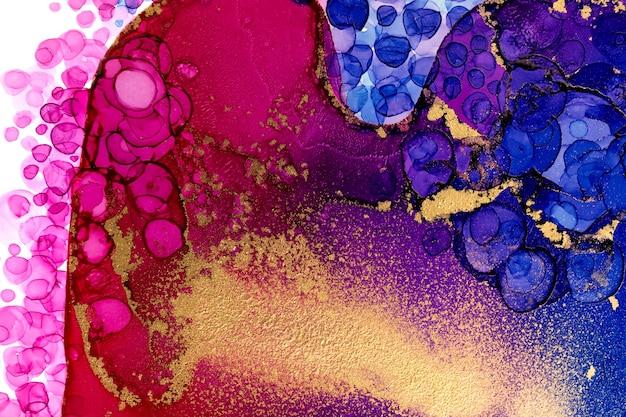 Абстрактная акварель виноградной лозы цвет фона произведения искусства с розовыми пузырями