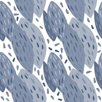 추상 수 박 뼈 완벽 한 패턴입니다. 스칸디나비아 스타일의 벽지. 자유형 나뭇잎 배경. 직물, 섬유 인쇄용 디자인. 벡터 일러스트 레이 션