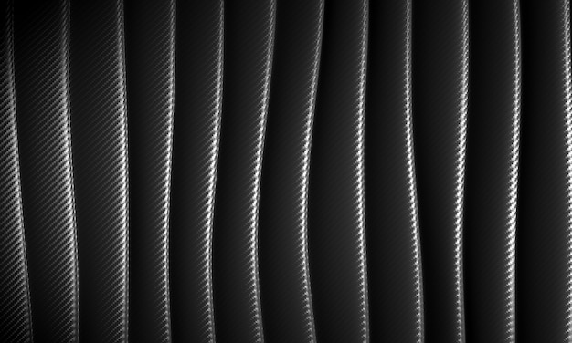 Abstract wave background in carbon fiber pattern.