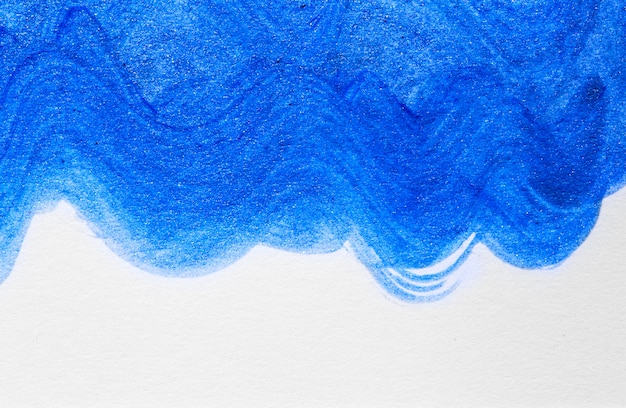 Abstract wave blue hand drawn acrylic painting background