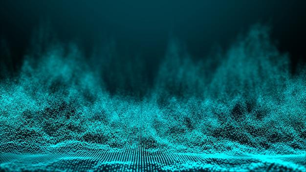 Абстрактная волна частицы фон, точечная волна. боке частицы фона.