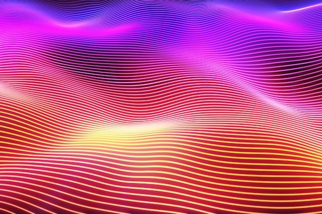 Абстрактная поверхность волны