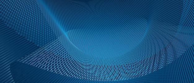 青い光のデジタル効果の企業コンセプトと抽象的な波技術の背景。3dレンダリングイラスト