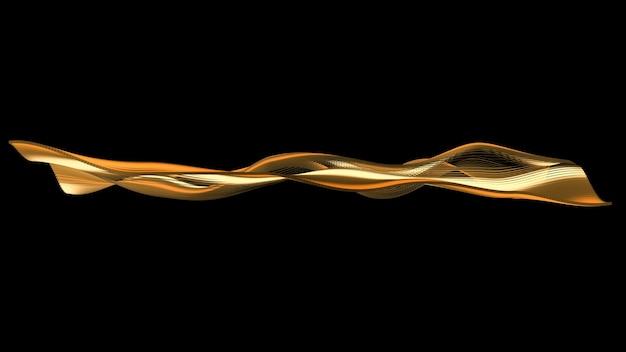 Абстрактная волна с золотым градиентом