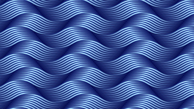 Abstract wavy blue line background