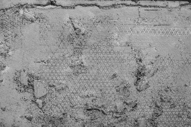 Abstract Weathered Concrete With Triangle Net Inside And Stamp On Surface Textur