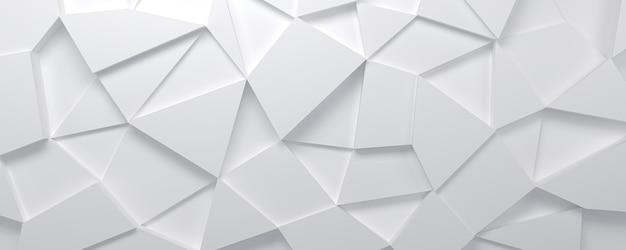 Абстрактный белый 3d фон с многоугольным узором