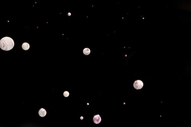 抽象的な白いアクリルボール