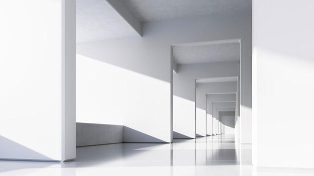 抽象的な白いアーキテクチャ