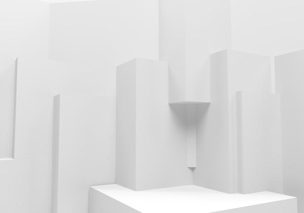抽象的な白い背景。 3 dイラスト