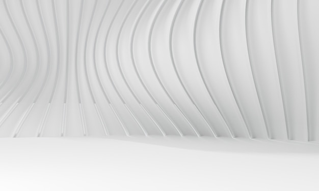 Abstract white background. 3d rendering of modern architecture.